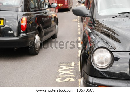 Taxis in London - stock photo