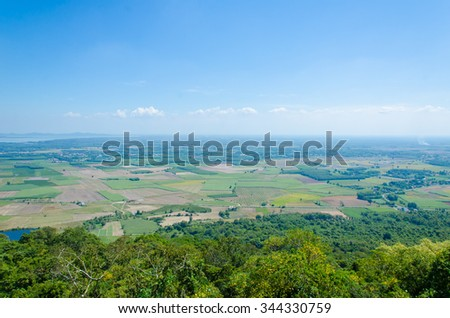Tay Ninh field with view from Ba Den mountain. Agriculture images