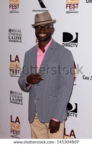 """Taye Diggs at """"The Way Way Back"""" Premiere as part of the Los Angeles Film Festival, Regal Cinemas, Los Angeles, CA 06-23-13 - stock photo"""