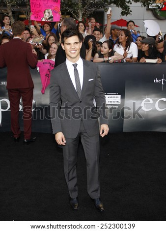"Taylor Lautner at the ""The Twilight Saga: Eclipse"" Los Angeles Premiere held at the Nokia Live Theater in Los Angeles, California, United States on June 24, 2010.  - stock photo"