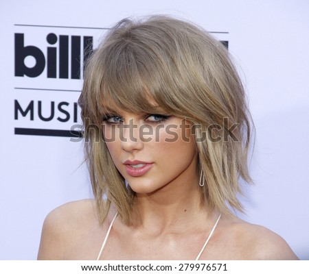 Taylor Swift at the 2015 Billboard Music Awards held at the MGM Garden Arena in Las Vegas, USA on May 17, 2015.  - stock photo