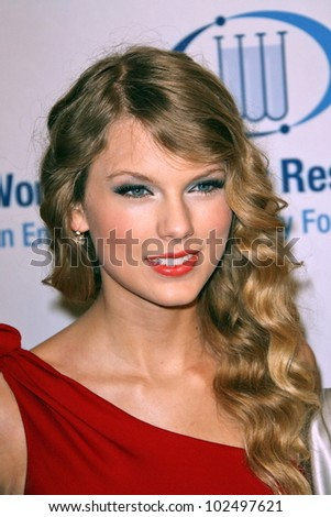 "Taylor Swift at the EIF's Women's Cancer Research Fund's ""An Unforgettable Evening"" Benefit, Beverly Wilshire Four Seasons Hotel, Beverly Hills, CA. 01-27-10 - stock photo"