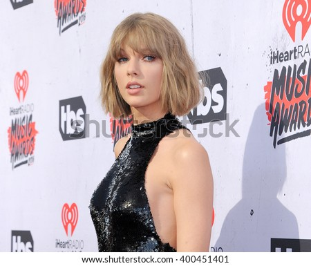 Taylor Swift at the 2016 iHeartRadio Music Awards held at the Forum in Inglewood, USA on April 3, 2016.