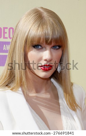 Taylor Swift at the 2012 MTV Video Music Awards held at the Staples Center in Los Angeles, United States on September 6, 2012.