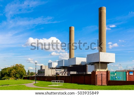 Taylors Lane Power Station, an open cycle gas turbine station, in London