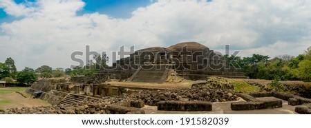 Tazumal mayan ruins in El Salvador - stock photo