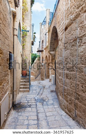 Te Aviv - Little aisle of old Jaffa