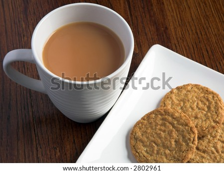 Tea And Biscuits (Cookies) - stock photo