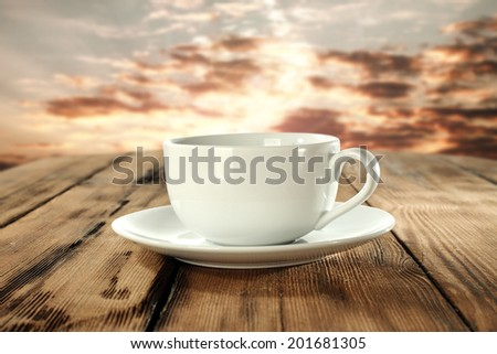 tea and cup on table