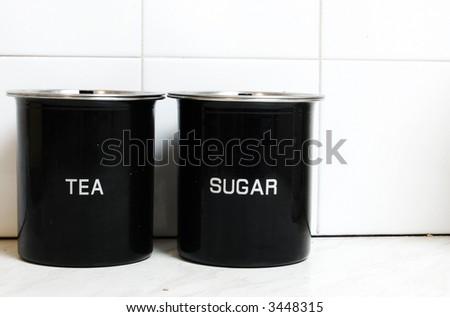Tea and Sugar Jars - stock photo