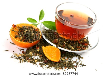 Tea and tangerine