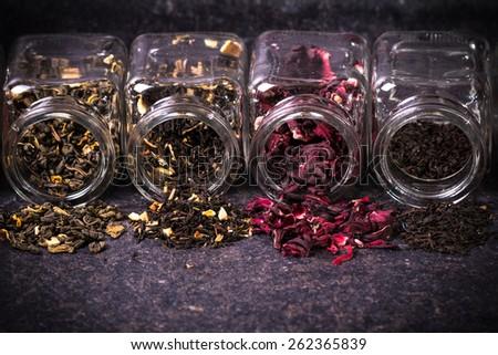 tea assortment - stock photo