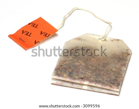 Tea Bag Isolated on a White Background - stock photo