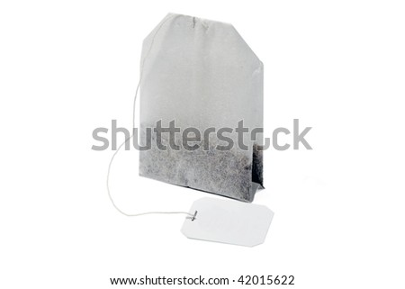 tea bag isolated on white background