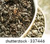 Tea - black & green - stock photo