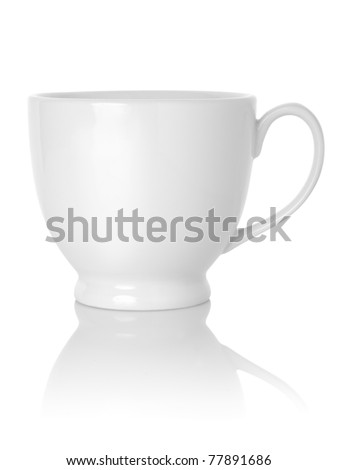 Tea cup isolated on white background. Path - stock photo