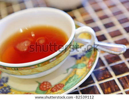 tea for afternoon - stock photo