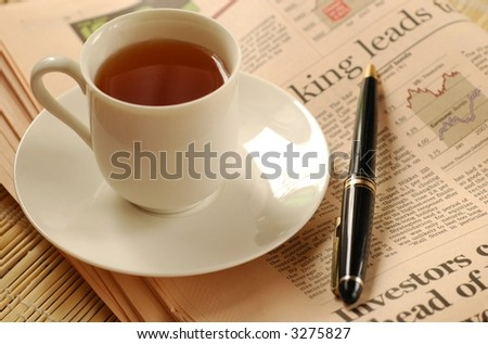 Tea for inspirations - stock photo