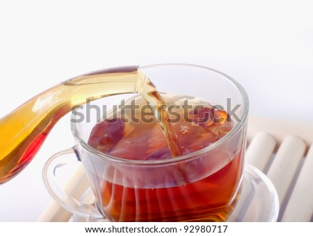 tea in cap