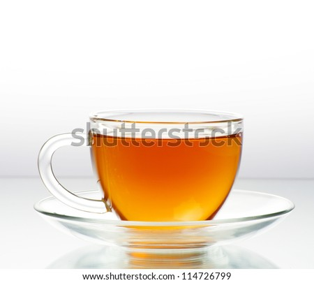 tea in cup  isolated on white background - stock photo