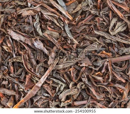 Tea leaves macro photo. - stock photo