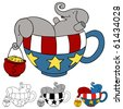 Tea Party Elephant Donations - stock photo