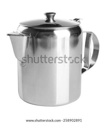 tea pots. stainless steel tea pots on the background - stock photo