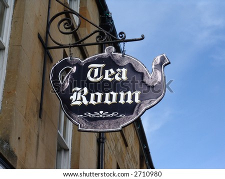 Tea Room sign of tea pot