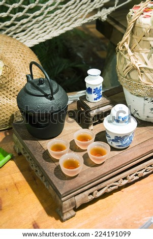 Tea service - stock photo