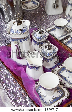 tea set - stock photo