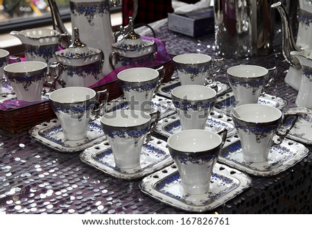 tea sets - stock photo