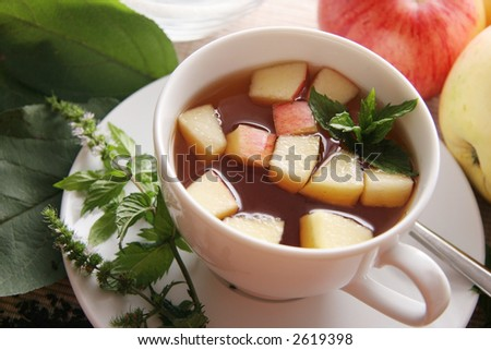 Tea with apples.