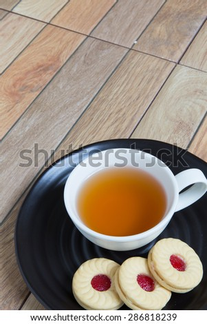 Tea with Cookie / Cookie for Tea Break Background - stock photo