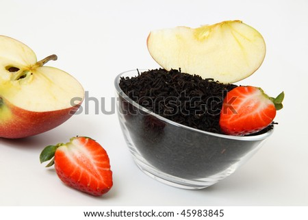 tea with fruits