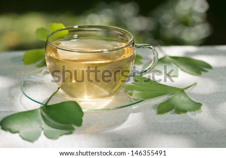 tea with ginkgo