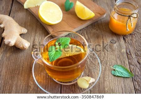 Имбирный чай с лимоном и мятой для похудения
