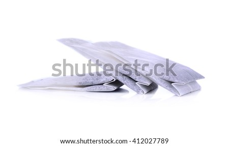 Teabag Isolated on white background - stock photo