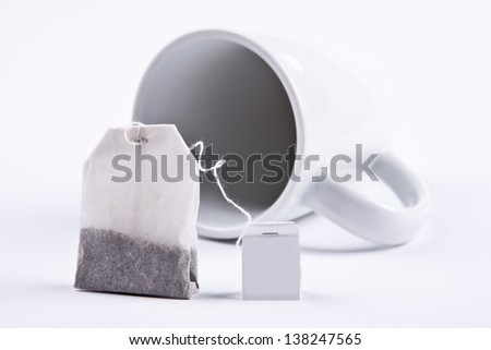 Teabag with cup - stock photo