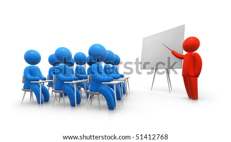 Teacher and student on a lesson - stock photo