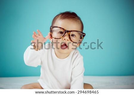 Teacher baby - stock photo