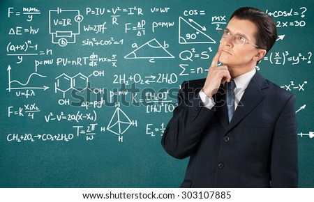 Teacher, blackboard, board.