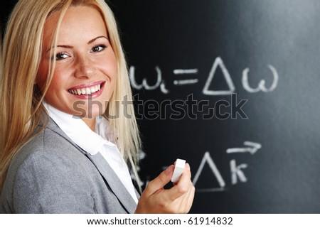 teacher draw - stock photo
