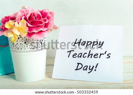Teacher's day holiday. copy space