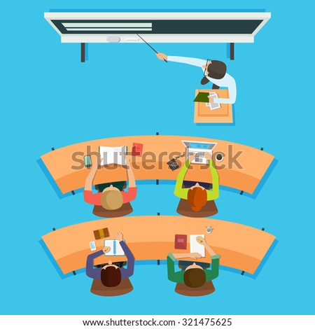 vector flat illustration literature classroom school stock