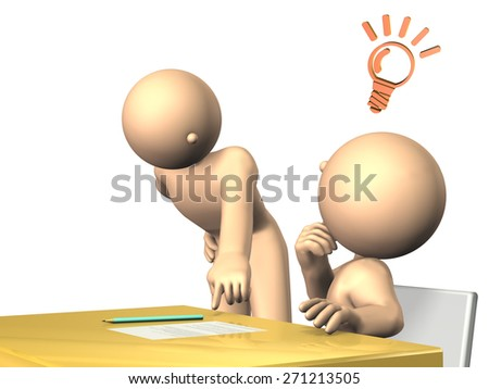 Teacher will advice to students.isolated,, computer generated image - stock photo