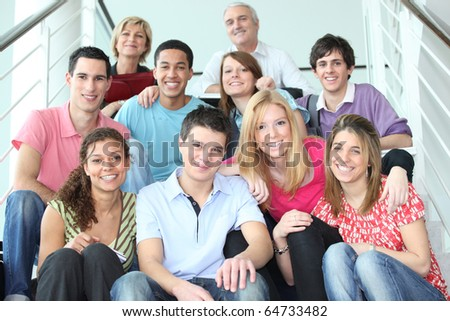 Teachers and pupils - stock photo