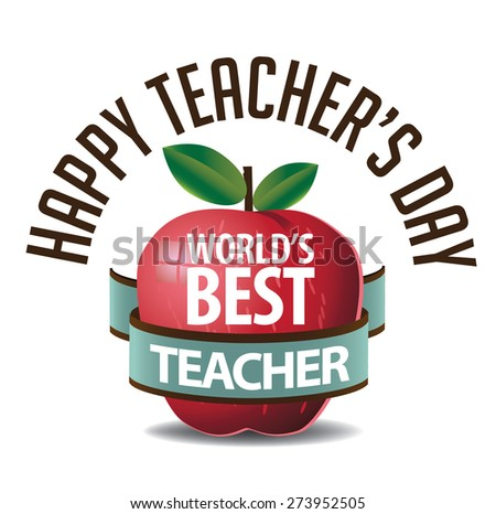 Teachers Day icon royalty free stock illustration for greeting card, ad, promotion, poster, flier, blog, article, social media, marketing