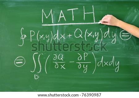 teaching math - stock photo