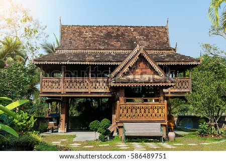 Teak stock images royalty free images vectors for Thai classic house