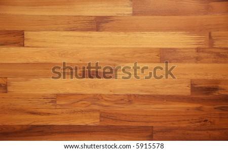 Teak Parquet texture - stock photo